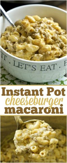 This Instant Pot cheeseburger macaroni recipe will take you back to your childhood! Just 10 minutes in your pressure cooker for this cheesy pasta dish. via /thetypicalmom/ (Instant Recipes Products) Crock Pot Recipes, Slow Cooker Recipes, Instant Recipes, Instant Pot Dinner Recipes, Instant Pot Meals, Instant Pot Pasta Recipe, Cheese Burger, Macaroni Recipes, Macaroni Pasta