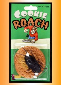 Fake Cookie Roach Prank-gag by Loftus. $1.29. This delicious looking cookie has a terrible surprise. When they pick it up, a cockroach dangles below from a string.