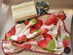 Como deixar seu pano de prato mais branco em 2 minutos ~ Vida Louca de Casada