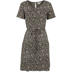 Fat Face Ava Bali Dress, Phantom (66 AUD) ❤ liked on Polyvore featuring dresses, floral print maxi dress, mini dress, floral midi dress, short-sleeve maxi dresses and cotton shift dress