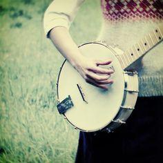 learn how to play the banjo.  (Banjo Girl - Fine Art Photograph. via Etsy.)