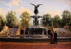 Bethesda Fountain 20 x 28, sold  by TR Colletta