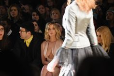 Reem Acra fashion show in NY on February 16, 2015.