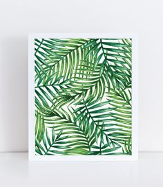 Watercolor Palm Leaf Watercolor Plants Tropical by lushaprints