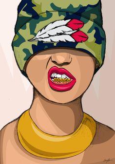 Chexk out my Grillz Illustrations, Illustration Art, Creative Illustration, Estilo Gangster, Capas Samsung, Trill Art, Handy Wallpaper, Dope Cartoons, Afro Art