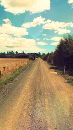 Best way to clear your mind... A long drive down a country road.