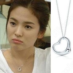 Discount China china wholesale Classic Song Hye Kyo Ramantic House Hollowing Heart Necklace 6442 [6442] - US$0.99 : Bluelans