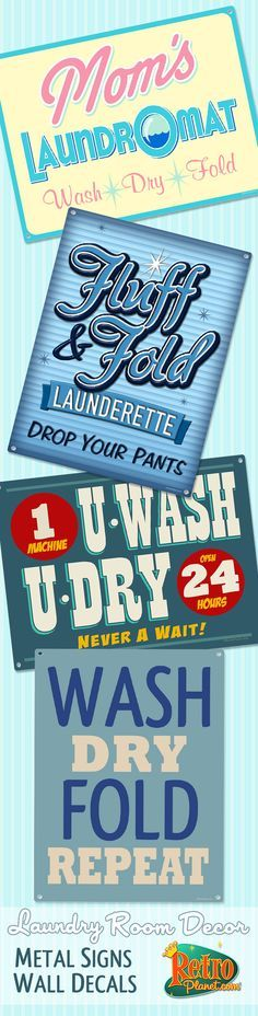 Lighten the load with humor on wash day! Our selection of laundry room decor items will make you smile as you look over those mounds of dirty clothes. From the classic Drop Your Pants Here sign to vintage style soap and humor designs, these wall decorations will make the weekly chore less of a bore.