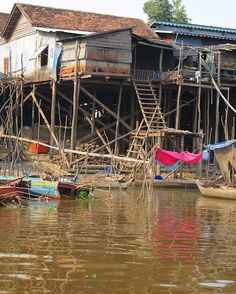 Fishing village in Cambodia near Phnom Penh.