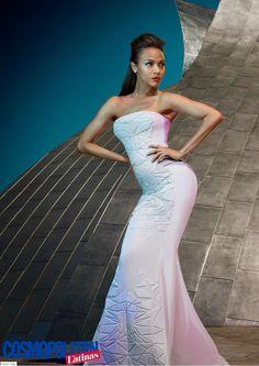 Fantasy Fashion Design: Zoe Zaldana, posa con  estilo de ciencia ficción p...