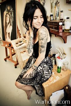 Charmaine Olivia - Self-taught,imaginative,and so expressive. One of my favorite young artists with a future.
