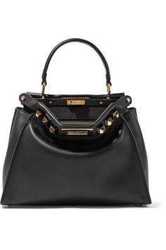 FENDI Peekaboo Medium Embellished Leather Tote. #fendi #bags #leather #hand  bags