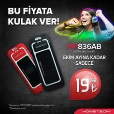 Bu fiyata kulak ver!  #Hometech MP836AB MP3 Player 39,90TL yerine sadece 19,90TL. www.hometech.com.tr/mp836ab-siyah