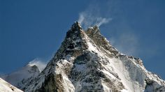 Mount Besso (3,667 m) from the Zinal valley, Switzerland