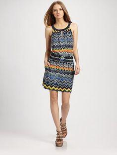 dresses summer. I'm loving the chevron print this summer...