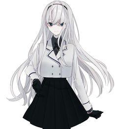 Evridiki Panayi Sweet, Slowly Descending into Madness Anime Neko, Kawaii Anime Girl, Manga Anime Girl, Cool Anime Girl, Pretty Anime Girl, Anime Girl Drawings, Beautiful Anime Girl, Anime Artwork, Anime Girls