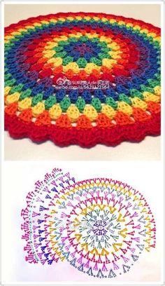 42 Trendy Crochet Mandala Cushion Circles Knitting PatternsKnitting For KidsCrochet PatronesCrochet Scarf Crochet Mandala Pattern, Crochet Circles, Crochet Diagram, Crochet Round, Crochet Squares, Crochet Stitches, Afghan Crochet, Granny Squares, Crochet Lace