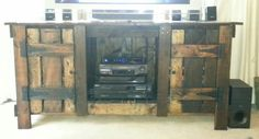 We needed a new entertainment center that fit our TV. My husband was too busy to do this for me so I said I would do it myself. It is 99% pallet wood. One of the things I wanted to…