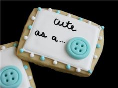 Cute as a button - would be good for a baby shower.