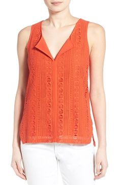 Sanctuary 'Studio' Front Overlay Split Neck Shell available at #Nordstrom