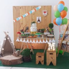 Já é a 3° festa que fazemos para a Malu! Este ano ela queria uma festa com os bichinhos da floresta, então criamos o Acampamento na Floresta para comemorar seus 5 aninhos. Decoração e Projeto @upartsatelie Doces modelados @cozinhadatia Baptism Decorations, Baby Shower Decorations For Boys, Birthday Decorations, Birthday Party Themes, Forest Party, Woodland Party, Girls 3rd Birthday, Lumberjack Birthday Party, 1st Birthdays