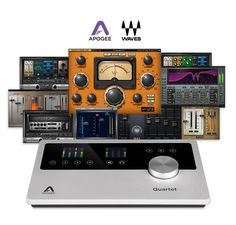 Apogee Quartet is the ultimate desktop audio interface and studio control center for professional recording on Mac and iPad.