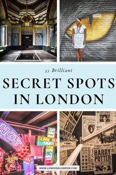 London is full of secret spots for you to explore. Need inspiration? Check out these 55 quirky, weird and unusual things to do in London. Europe Travel Guide, Travel Destinations, Travel Guides, London England Travel, London Travel, London Attractions, London Restaurants, Cities, London Places