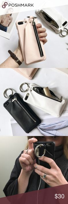 So Cute iPhone Case / NEW IN. ! As seen in pictures, black and pink color! Ideal to carry your lipstick and credit card!  They fit iPhone 7 and 6 Accessories Phone Cases