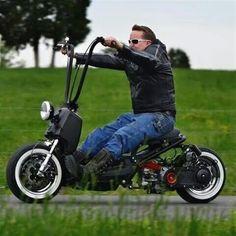 The Honda Ruckus Triumph Motorcycles, Honda Bikes, Cool Motorcycles, Motocross, Bobber Motorcycle, Bobber Chopper, Scooter Custom, Custom Bikes, Ducati