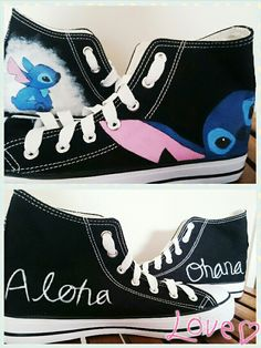 Custom Stitch Shoes! I got the idea from a pin and thought I'd give them a try. They turned out pretty good and I gave them to my friend for her birthday.