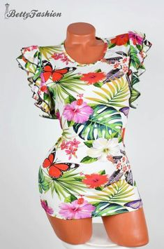 Floral Swimsuit, Swimsuits, Rompers, Dresses, Fashion, Vestidos, Moda, Fashion Styles, Bathing Suits