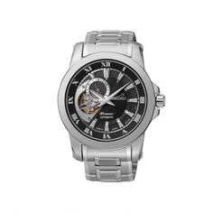 SSA215J1 Ανδρικό ρολόι SEIKO Premier με αυτόματο μηχανισμό μαύρο καντράν και μπρασελέ | Ρολόγια SEIKO ΤΣΑΛΔΑΡΗΣ στο Χαλάνδρι #Seiko #premier #μαυρο #μπρασελε #ρολοι