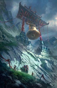 Resonant Valley, robin lhebrard on ArtStation at https://www.artstation.com/artwork/4Rmn2
