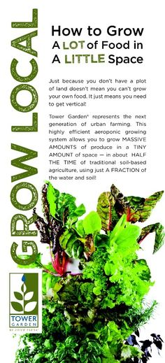 How to Grow a LOT of Food in a LITTLE Space. Tower Garden by Juice PLUS+. YAS http://www.juiceplus.com/+at03623