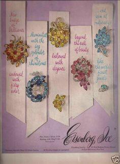 Eisenberg Ice Jewelry Vintage Ad 1963