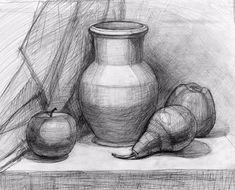 Drawing Pencil Art Still Life 55 Ideas - Zeichnung Still Life Sketch, Still Life Drawing, Still Life Art, Pencil Art Drawings, Art Drawings Sketches, Figure Drawing, Painting & Drawing, Academic Drawing, Observational Drawing