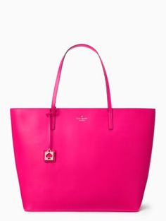love this bright pink kate spade tote