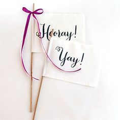 Easy and adorable DIY fabric celebration pennants perfect for the ceremony or reception exit!