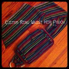 JaN 13 sLoT rEsErVaTiOn // CUSTOM Wrap Conversion Hip Pouch with adjustable ring waist - Woven Wrap Scraps Bag - Babywearing Wrap Bag