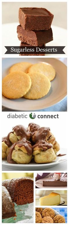 Have a sweet tooth but don't want to blow your diet? These rich and decadent desserts use sugar substitutes to eliminate added sugar and help you keep your blood sugar in check. You don't need added sugar to make a sweet and tasty dessert. Receipes include Creamy Milk Chocolate Pie, Chocolate Peanut Butter Fudge, Chocolate Cream Puffs, Strawberry Pie, Pecan Pie and more. diabeticconnect.com #diabetes #desserts #sugarfree