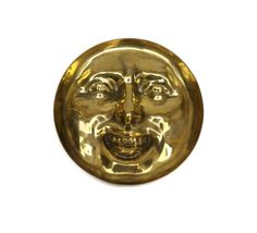 Moon Face Dish. Brass Trinket Dish. French Vide by LeBonheurDuJour