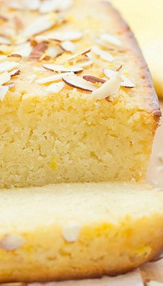 Lemon Ricotta Bread/Cake with Almond Glaze Lemon Desserts, Lemon Recipes, Just Desserts, Sweet Recipes, Delicious Desserts, Baking Recipes, Cake Recipes, Desserts With Ricotta Cheese, Bake Sale Recipes