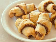 Date Rugelach : Pulse dates with cinnamon, ginger, cloves and apple juice before mixing in walnuts to make Ron Ben-Israel's rugelach filling.