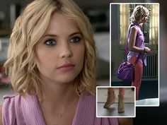 Hanna (Ashley Benson) was crazy colorful in last week's episode of PLL!  Love her sherbert inspired outfit?  Here's how to get it: top- Rebecca Minkoff, jeans- DL1961, bag- Rebecca Minkoff, earrings- Marc Jacobs, shoes- Rebecca Minkoff.  Tune in to PLL, Tuesdays at 8/7c on ABC Family for more fabulous style!