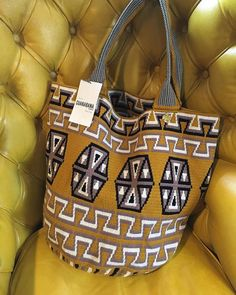 Wayuu xl Hand-knitted on Crochet tote bag by decenario on Etsy