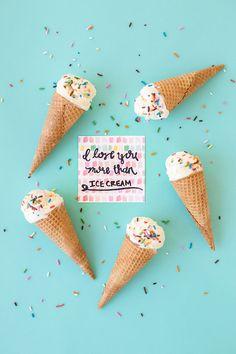 I Love You More Than Ice Cream (Free Printable!)