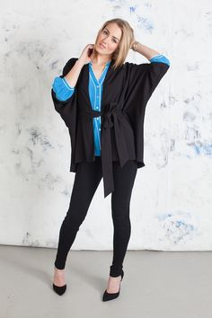 Kirin in Blue and Carly Kimono in Black #Fall13 #AnnieGriffin