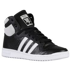 adidas Top Ten Hi - Women's - Basketball - Shoes - Black/White/Black