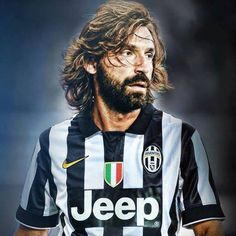Legends Football, Football Icon, Football Is Life, Sport Football, Football Season, Football Shirts, Andrea Pirlo, Football Images, Soccer Drills