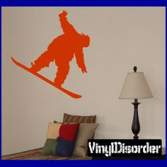 Snowboarding Wall Decal - Vinyl Decal - Car Decal - AL 018